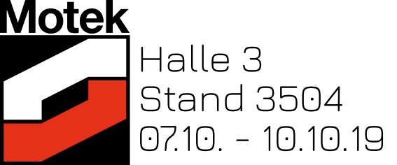 Motek19 Halle 3 Stand 3504